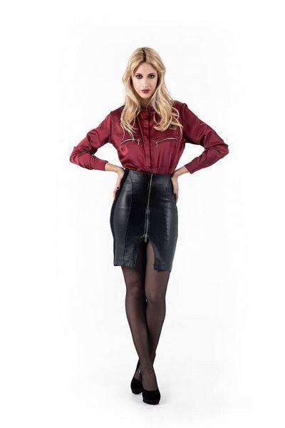 falda simil cuero Activity Pret a Porter invierno 2014