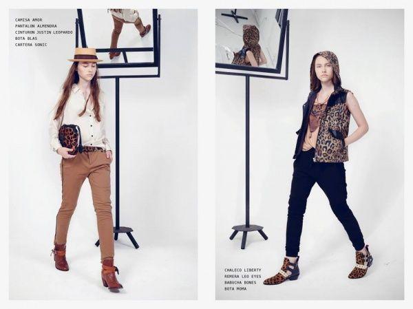 pantalon con chaleco animal print Kosiuko invierno 2014