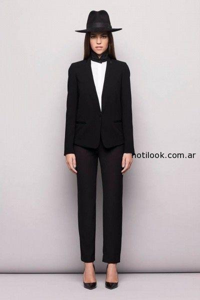 traje mujer negro  invierno 2014 Awada