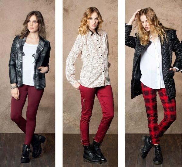 Looks negro y bordo by nucleo modas invierno 2014