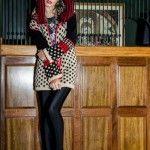 Sweater tejido a lunares Enriquiana tejidos otoño invierno 2014