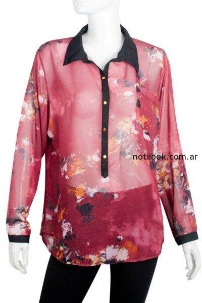 blusa de gasa estampada Syes invierno 2014