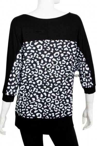 blusa negra y blanca Syes invierno 2014