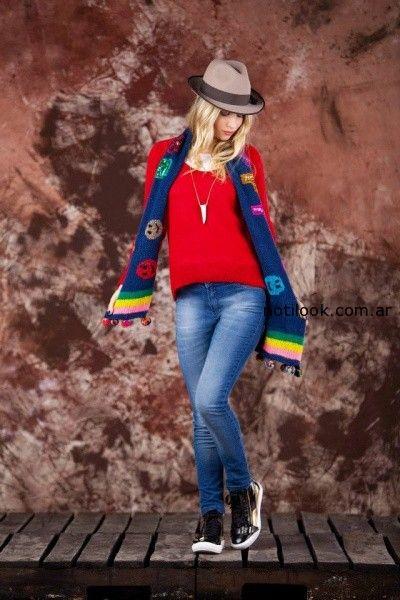 bufanda colorida tejido invierno 2014 by Agustina Saquer