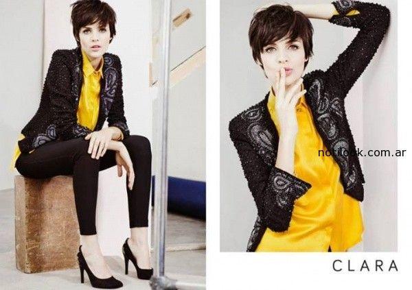 camisa amariila saco nebro bordado Clara Ibarguren otoño invierno 2014