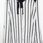 camisa blanca con rayas negras Syes invierno 2014
