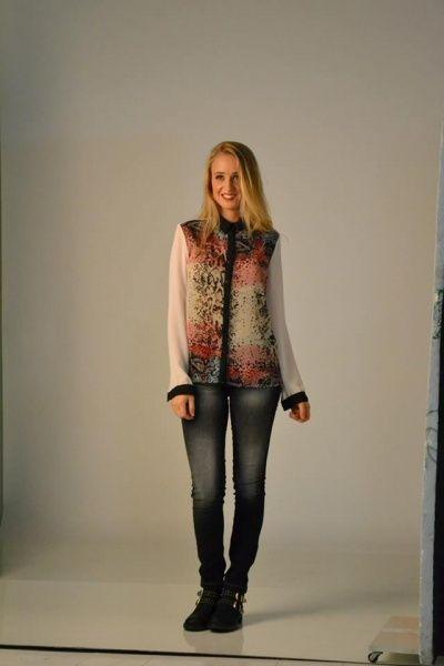 camisa de gasa  AF jeans invierno 2014