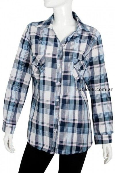 camisa estampado escoces Syes invierno 2014