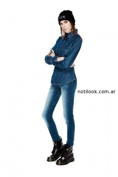 camisa jeans Peuque invierno 2014