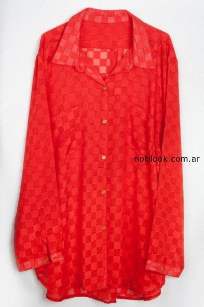 camisa roja Syes invierno 2014