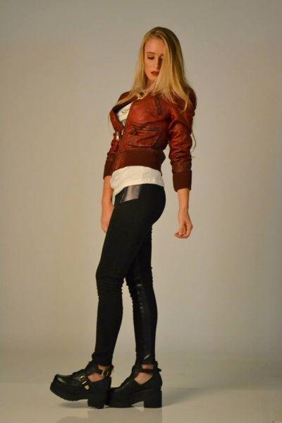 campera de cuero AF jeans invierno 2014