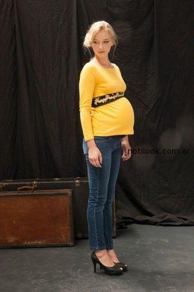 diseño urbano remeras para embarazadas invierno 2014
