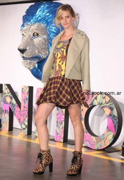 falda amplia escocesa corta Benito Fernandez Invierno 2014
