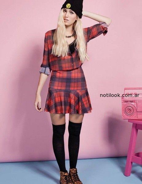 falda escocesa muaa invierno 2014
