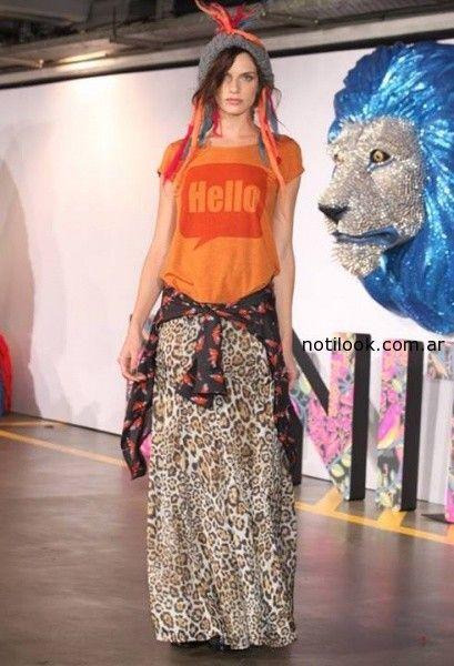falda larga anomal print Benito Fernandez Invierno 2014
