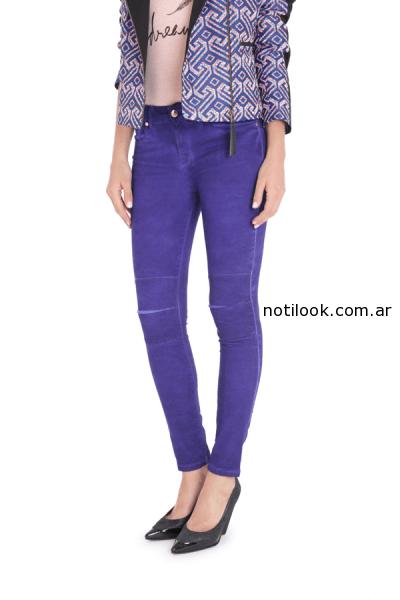 jeans vitamina invierno 2014 - violeta terciopelo