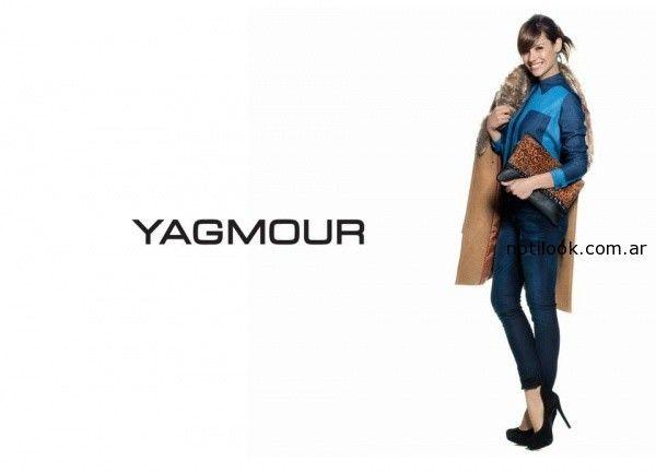 jeans y tapado Pampita Yagmour invierno 2014
