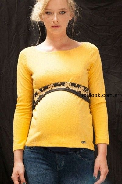 moda para embarazadas invierno 2014 diseño urbano