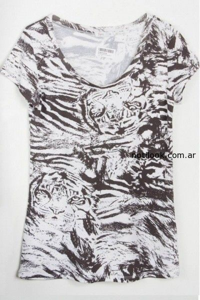 remera estampa animales Syes invierno 2014