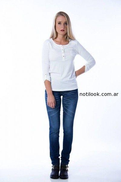 remera larga abotonada Af jeans invierno 2014