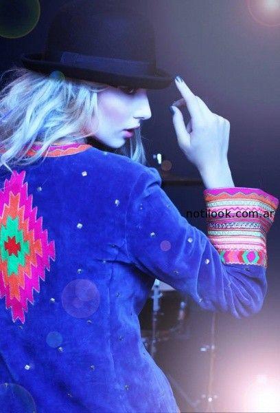saco gamuzado bordado Sophya invierno 2014