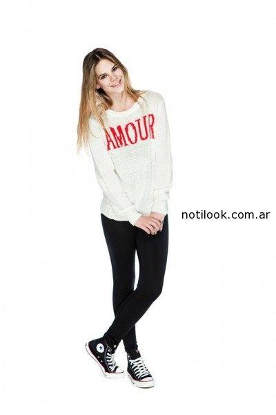 sweater amplios Peuque invierno 2014