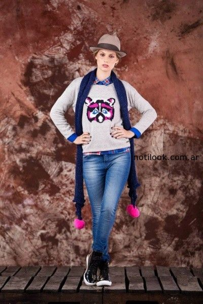 sweater estampa animal tejido invierno 2014 by Agustina Saquer