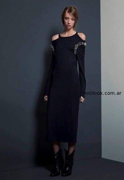 vestido mangas largas Josephine B invierno 2014