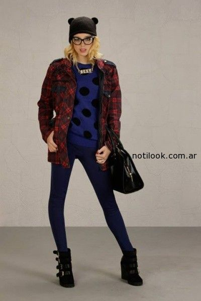 CAMISACO ESCOCES invierno 2014 claudia rubinstein