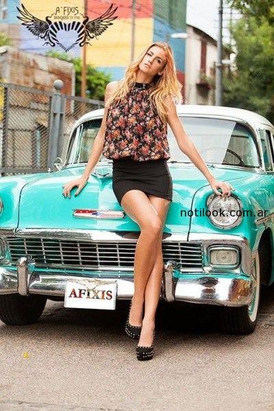 blusas estampadas afixis invierno 2014