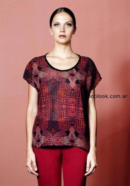 blusas estampadas otoño 2014  Mariana Dappiano
