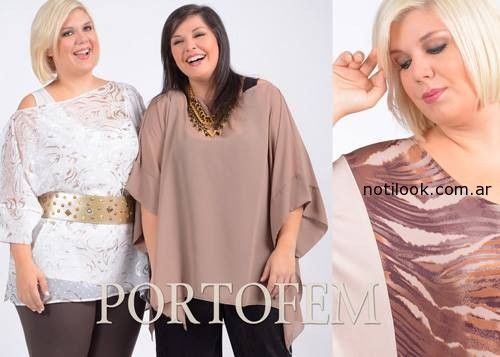 blusas talles grandes portofem invierno 2014