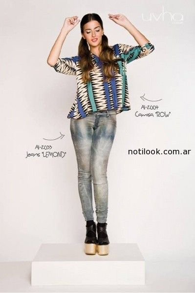 camisa estampada invierno 2014 uvha