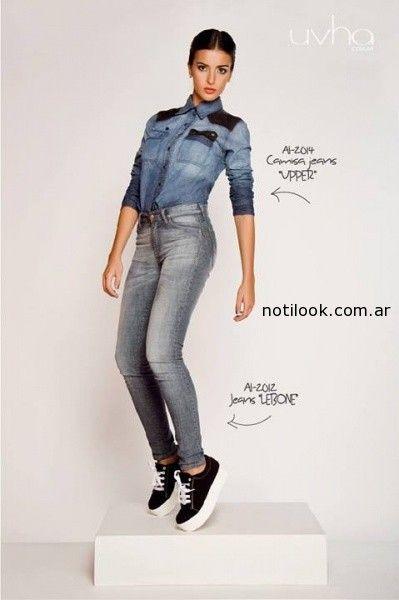 camisa jeans invierno 2014 uvha