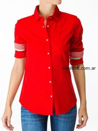 camisa roja las oreiro otoño invierno 2014