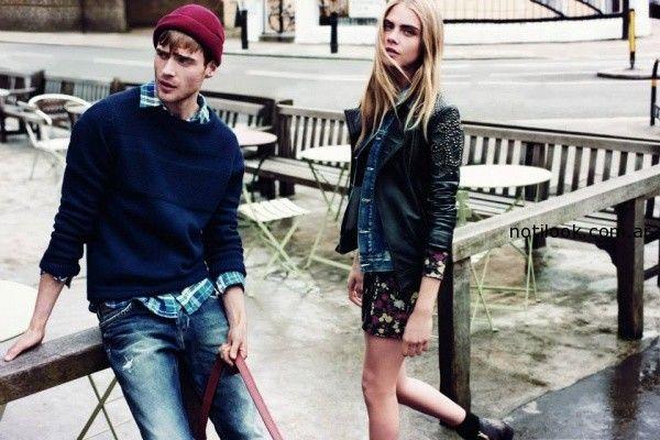 campera de cuero Pepe Jeans invierno 2014