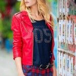 chaqueta simil cuero roja invierno 2014 afixis