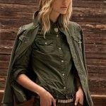 chaqueta verde militar tannery invierno 2014