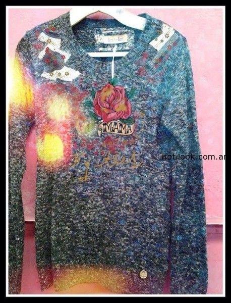 sweater con estampa Kees von Kees  invierno 2014