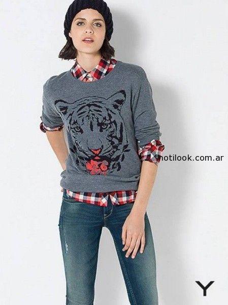 sweaters con estampas yagmour invierno 2014