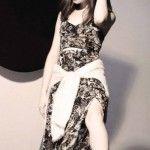 vestido largo para la noche invierno 2014 materia