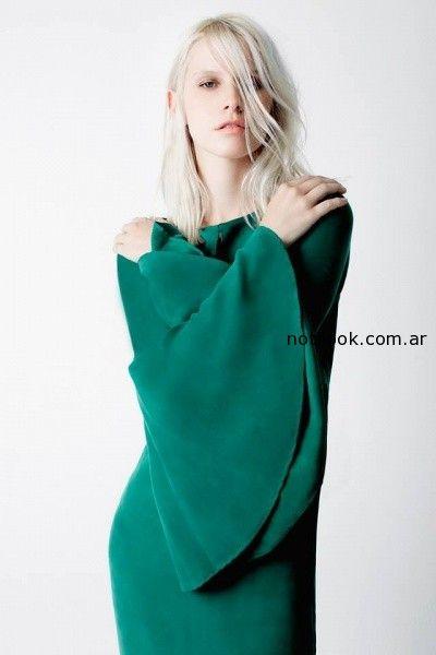 vestido verde allo martinez invierno 2014