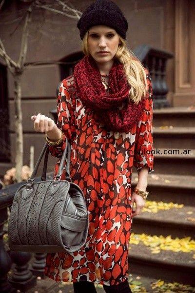 vestidos de dia invierno 2014 india style