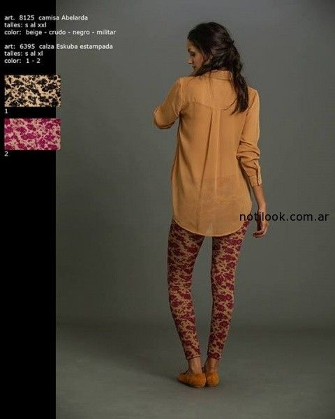 calzas estampadas invierno 2014 Okoche