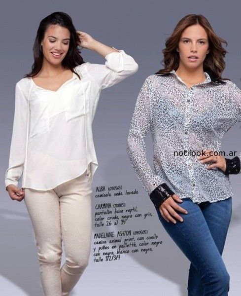 camisas animal print cuesta azul invierno 2014