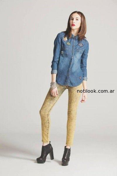 camisas jean con apliques nare invierno 2014