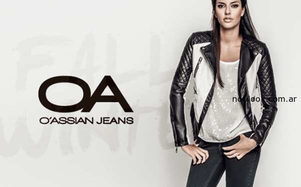 campera de cuero OASSIAN Jeans invierno 2014