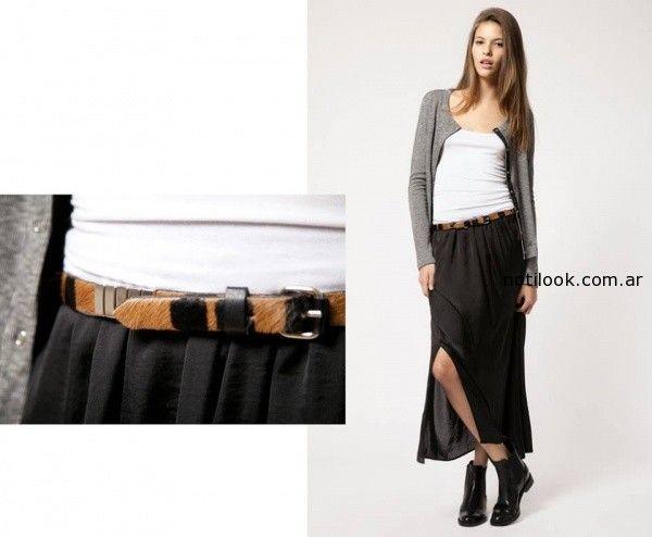 falda negra invierno 2014 Giesso