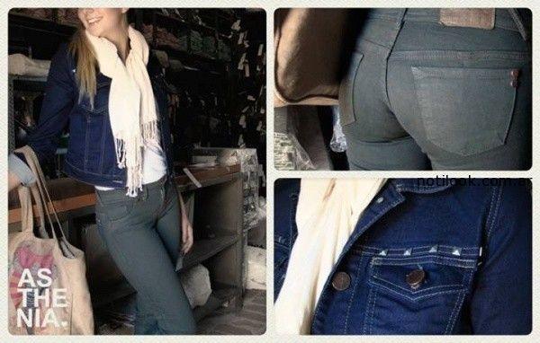 jeans gabardina verde militar Asthenia