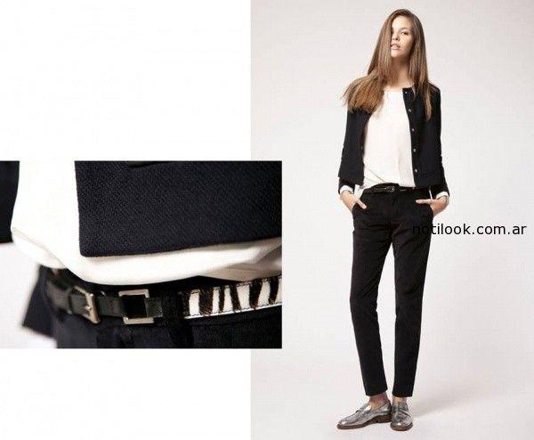 pantalon recto negro invierno 2014 Giesso